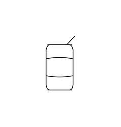 Coke line icon vector