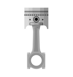 Connecting rod with piston single icon in cartoon vector