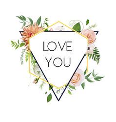 design floral flower card natural botanical vector image vector image