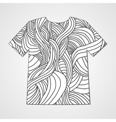 Design t-shirt with hand drawn doodle pattern vector image