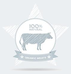 Farm shop cow milk Diagram and Design Elements in vector image vector image