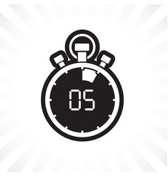 Five minute stop watch countdown vector
