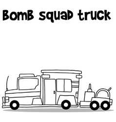 Hand draw of bomb squad truck vector