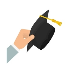 Isolated graduation hat vector image vector image