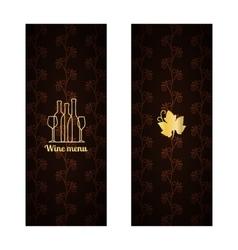Menu design with wine vector image