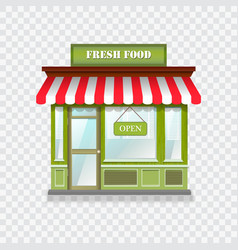 Realistic shop icon vector