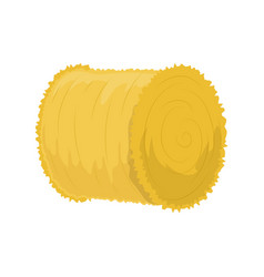 Roll of hay vector