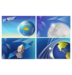 Satellite images vector