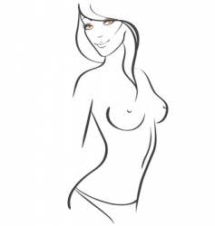 Slim women vector
