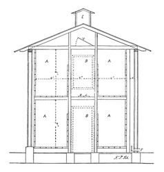 Storage house weather damage vector