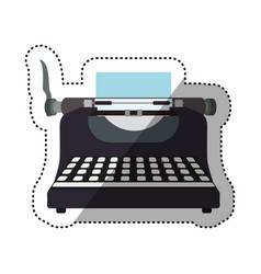 typewriter vintage device vector image