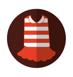Typical french costume icon vector