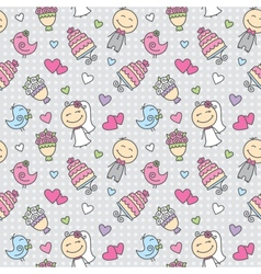 wedding pattern vector image vector image