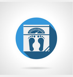 weight floor scales flat round icon vector image