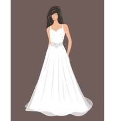 Woman in Wedding dress vector image