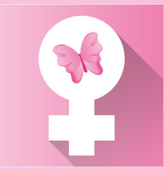 womens day gender symbol butterfly vector image vector image