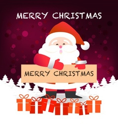 Merry Christmas happy Santa Claus Happy New Yea vector image