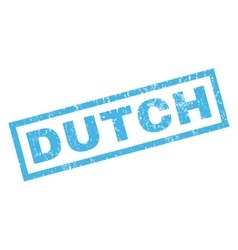Dutch Rubber Stamp vector image