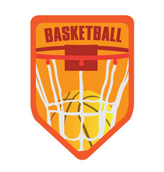 Isolated basketball emblem vector