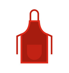 red apron icon flat style vector image