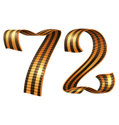 George ribbon shape number 72 anniversary victory vector
