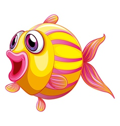 A colorful pouty fish vector