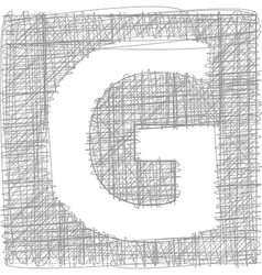 Freehand typography letter g vector