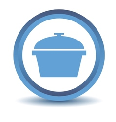 Blue pan icon vector