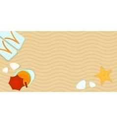 Summer banner vector image