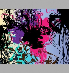 Liquid ink background vector