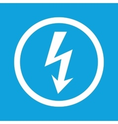 Voltage sign icon vector