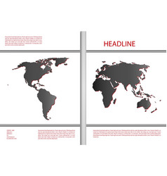 Cover design with world map vector