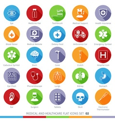 Medical icons set 02f vector