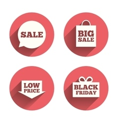Sale speech bubble icon black friday symbol vector