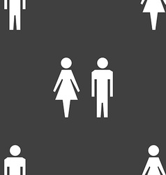 WC sign icon Toilet symbol Male and Female toilet vector image