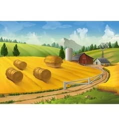 Farm rural landscape vector image