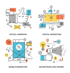 Marketing and advertising vector