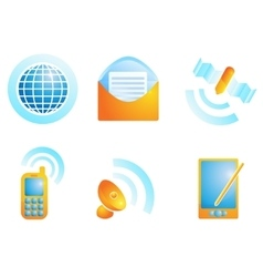 Connection web icons vector
