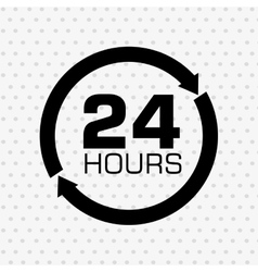 24 hours design vector