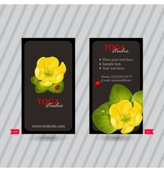 Business card with naturalistic floral composition vector image