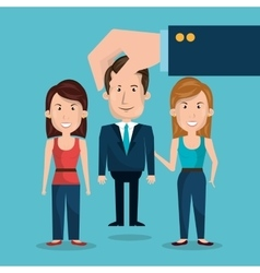 Find person design vector