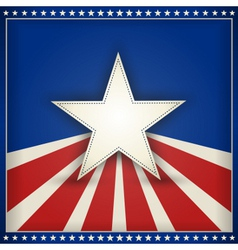 Patriotic USA background vector image
