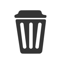 Trash can delete icon vector