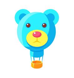 Blue jelly bear head shaped hot air balloon fairy vector