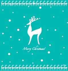 Cartoon deer background vector image vector image