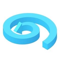 Circular arrow icon cartoon style vector