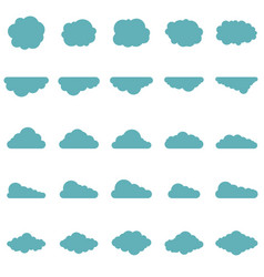clouds set in flat style vector image vector image