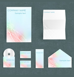 Corporate identity set vector