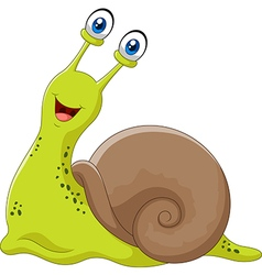 Cute snail isolated on white background vector image vector image