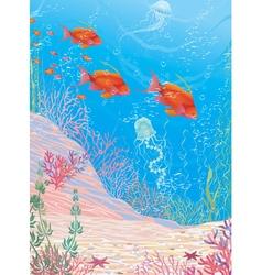Deep underwater vector